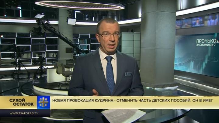 Кудрин в своём уме?: Пронько объяснил, как бороться с бедностью в России без отмены детских пособий