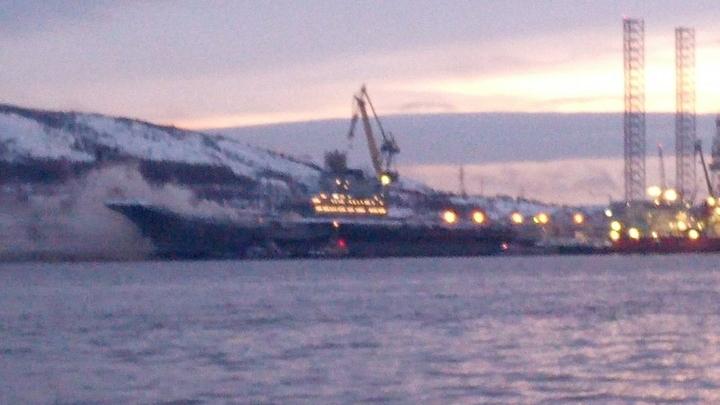 Краски и остатки ГСМ: Названа причина пожара на борту Адмирала Кузнецова