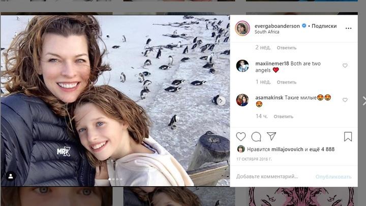 Дочка Миллы Йовович - копия мамы, раскрыла секрет закулисья и обещала новую тайну