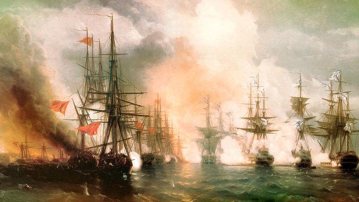 Победа русского флота у мыса Синоп