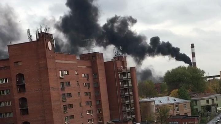Стало известно, откуда появился напугавший жителей Санкт-Петербурга густой черный дым