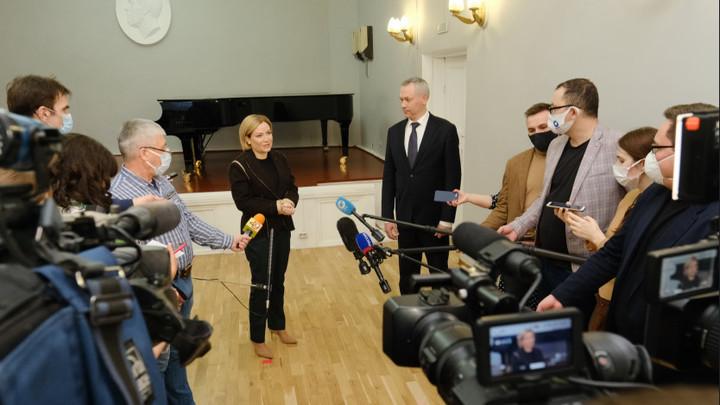 Министр культуры Ольга Любимова посетила Театр оперы и балета в Новосибирске