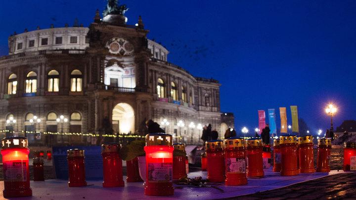 В Дрездене вспоминают жертв садистских англо-американских бомбардировок 1945 года