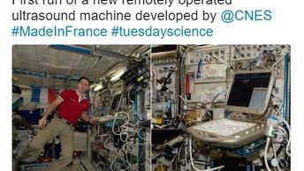 Французский астронавт снял на видео защитное поле Земли