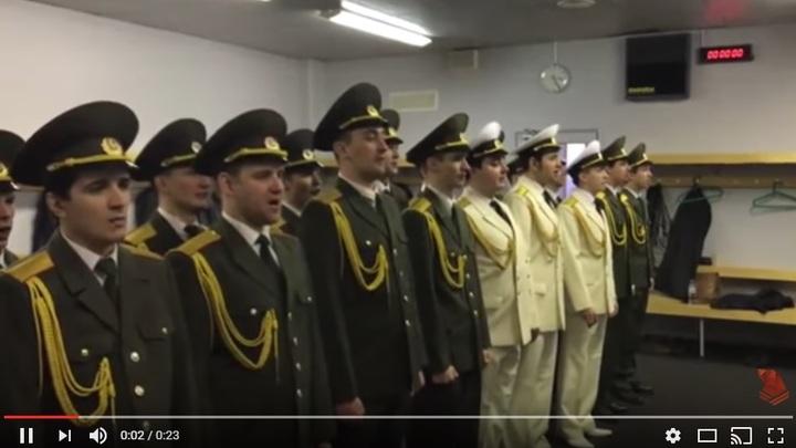 Хор русской армии записал видео для Басты, чтобы поднять шоу-бизнес с колен