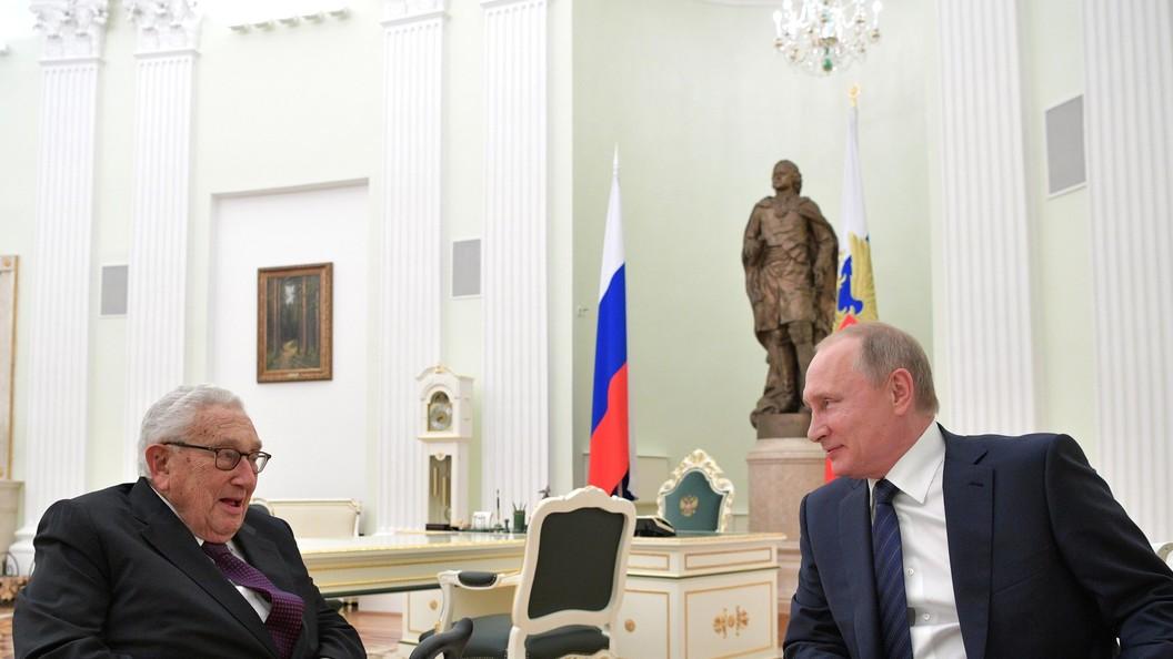 Песков рассказал о роли Киссинджера в контактах Путина и Трампа