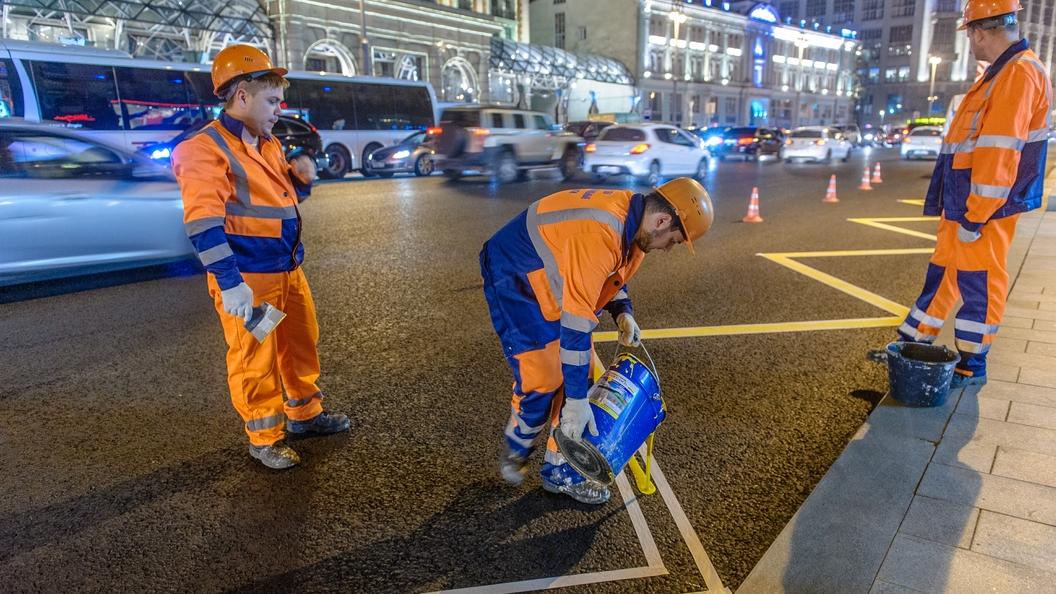 Цветная разметка в Москве поможет сократить число дорожных знаков