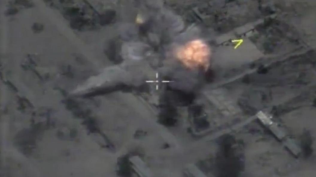 Опубликовано видео уничтожения террористов российскими ВКС в Акербате