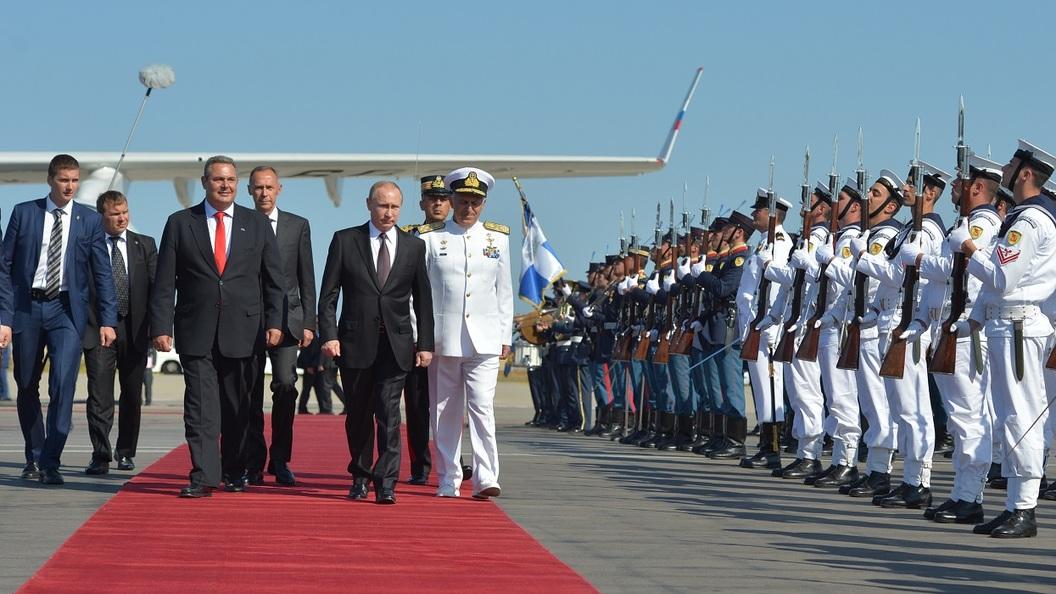 В Грецию прибыли Владимир Путин и Патриарх Кирилл