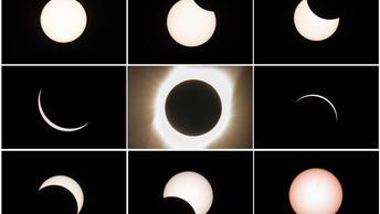Полное солнечное затмение показали в видео и фото