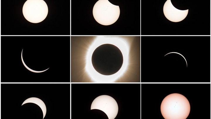 Специалисты NASA разложили великое солнечное затмение на этапы