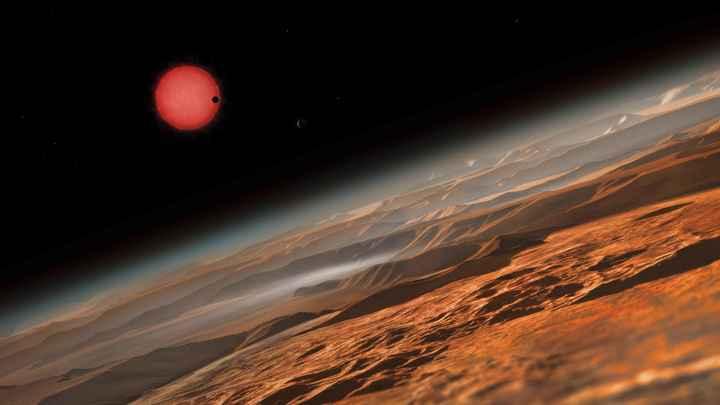 Марс в заморозке: В Сети появилось фото заснеженной Красной планеты