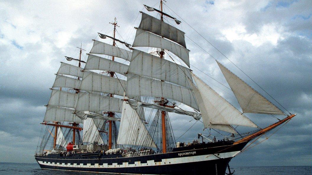 Финляндия испугалась российского парусника Крузенштерн с кадетами