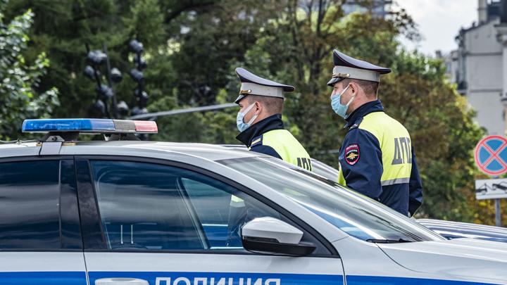 Появилось видео ДТП с перевернувшейся машиной ДПС в Новосибирске