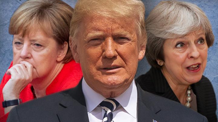 Кого уйдут раньше - Меркель, Мэй или Трампа?