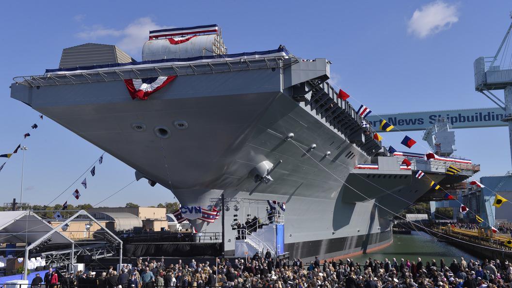 Новый авианосец ВМС США «Джеральд Форд» опять сломался