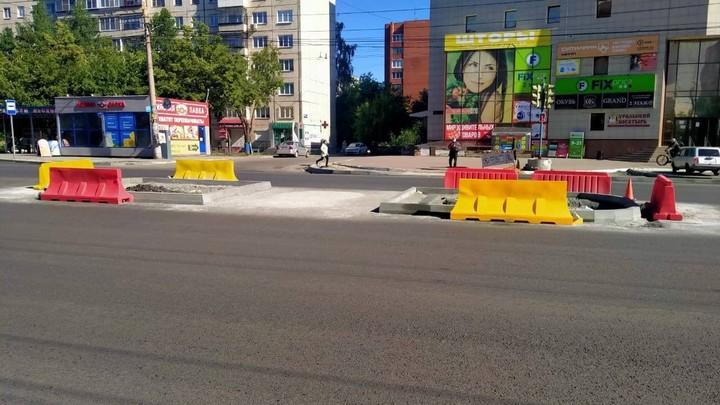 В мэрии объяснили размер островков на Комсомольском проспекте в Челябинске