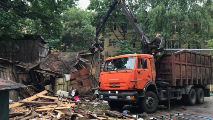 Ветхие сараи снесут в центре Нижнего Новгорода по просьбе жителей