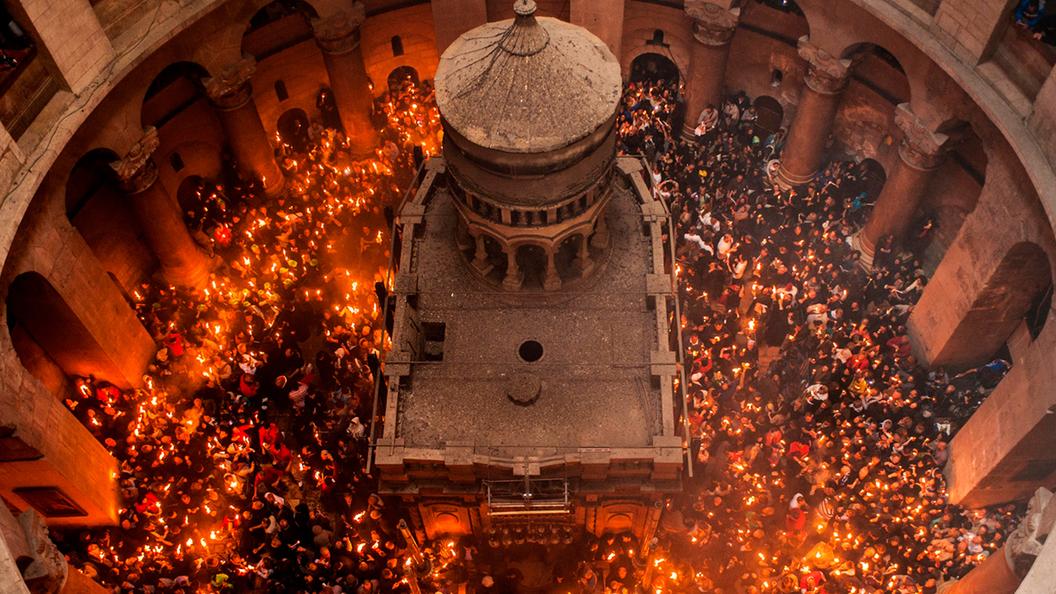 Благодатный Огонь крестообразно освятит Третий Рим