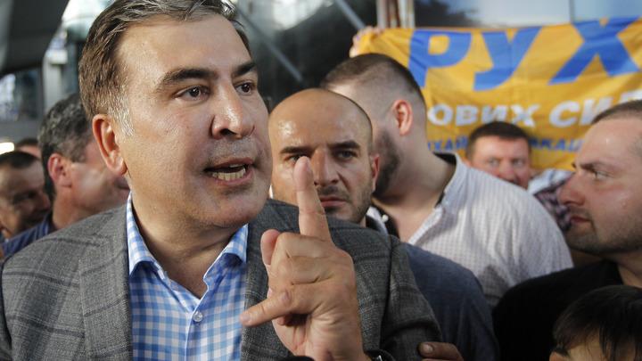 Идите вы все…: Неудобный вопрос вызвал истерику Саакашвили в прямом эфире