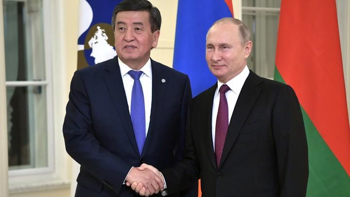 Военная база России в Киргизии будет увеличена на 60 га: Об этом договорились Путин и президент Жээнбеков