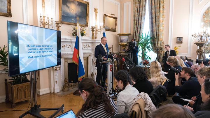 Итогом сотрудничества с британскими спецслужбами становится смерть - посольство РФ в Лондоне
