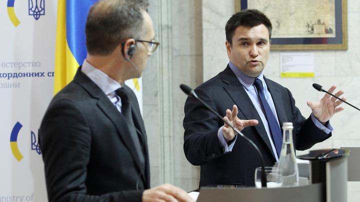 После провокации Киева Павел Климкин призвал ЕС жестко остановить Россию