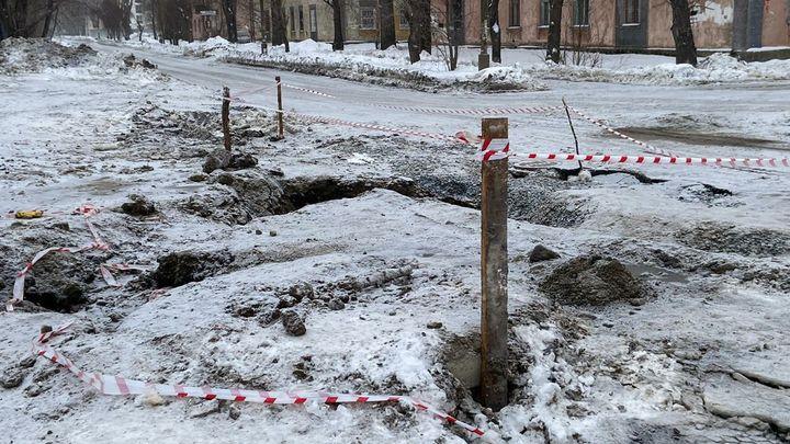 В Челябинске назвали причину аварии на водопроводе в Ленинском районе