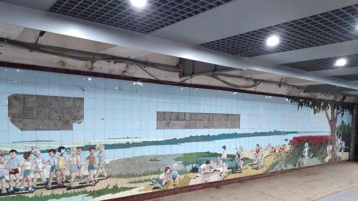 Ещё одна найденная мозаика в подземном переходе Ростове вызвала странную реакцию: Телячий восторг