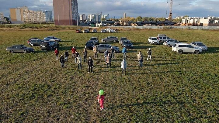 В Самаре жители микрорайоне Волгарь устроили акцию с призывом о помощи
