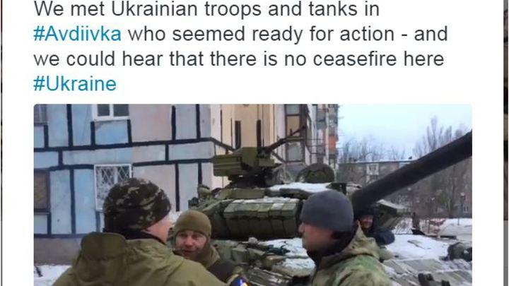 BBC показал видео с украинскими танками в Авдеевке