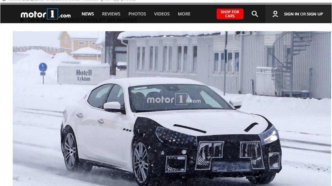 Роскошный седан Maserati Ghibli 2018 попал на фото во время тестов