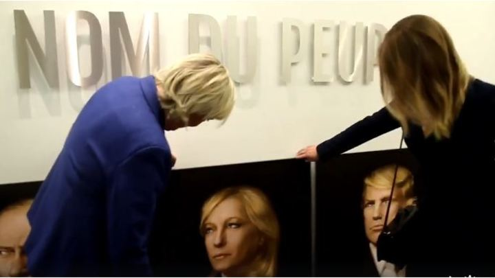 Катасонова подарила Ле Пен пророческий триптих с портретами Путина и Трампа