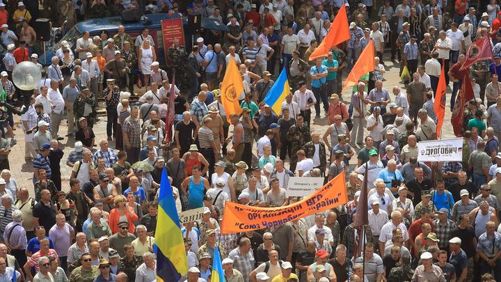 Украину накрывают голодные бунты: Почему шахтеры штурмовали Верховную раду