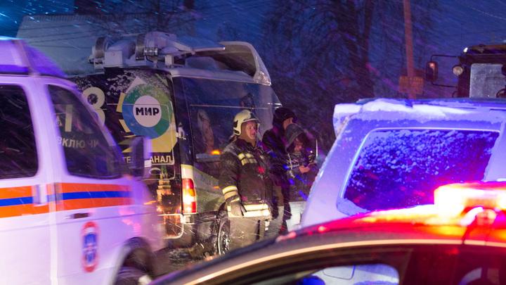 Появилось видео с места крупной аварии в Крыму: погибли четверо детей