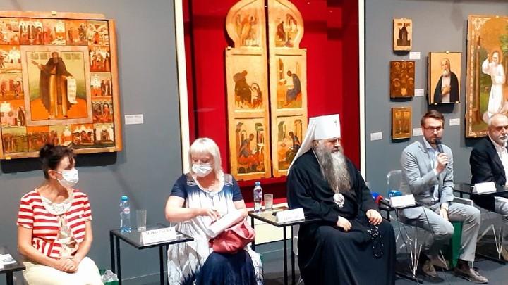 В восстановленном манеже в Кремле открылась выставка Небесный Нижний с работами Андрея Рублёва