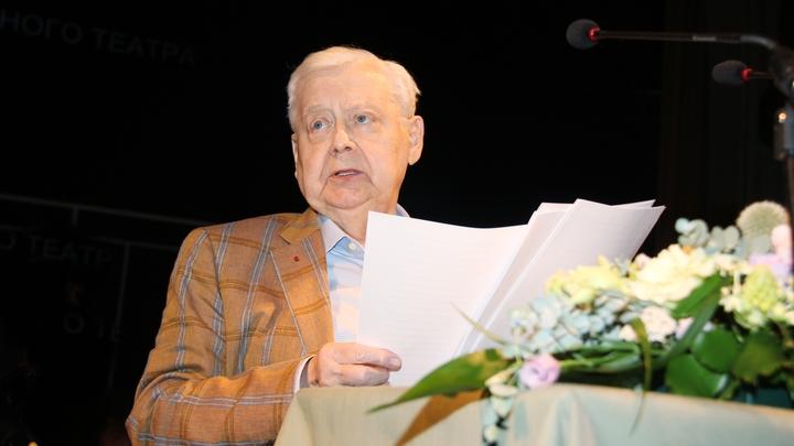 Олег Табаков экстренно госпитализирован с заболеванием легких