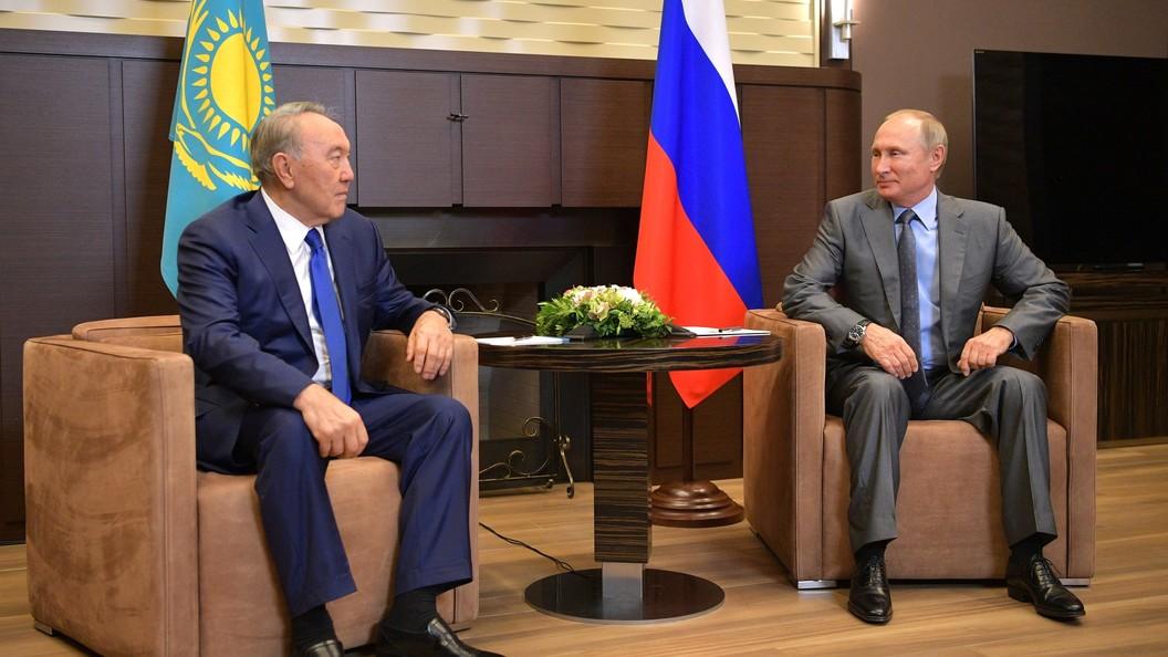 Назарбаев пошутил на встрече с Путиным и представителями немецкого бизнеса