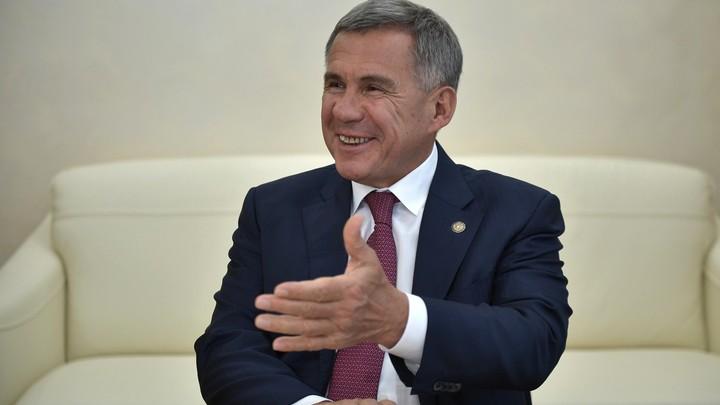 Тогда семьи начнут разваливаться: Глава Татарстана пошутил над установкой камер в подъездах