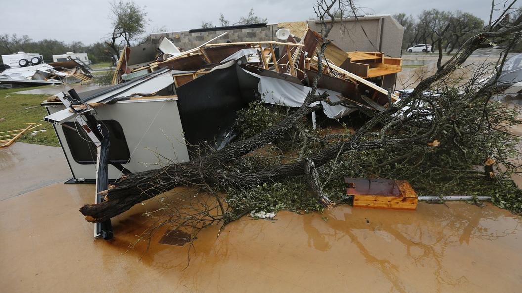 Буйство урагана Харви в США засняли с борта МКС