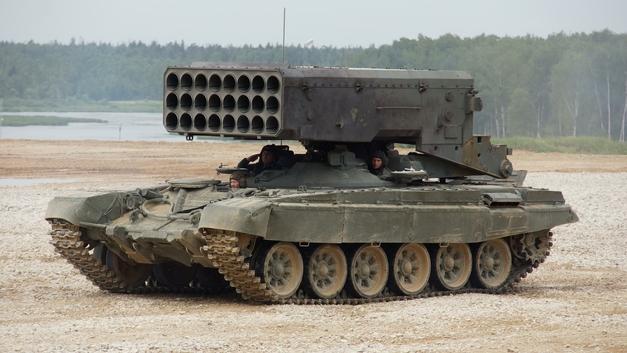 «Самое смертоносное оружие России в городской войне»: Военный эксперт США о тяжелом огнемете «Буратино»