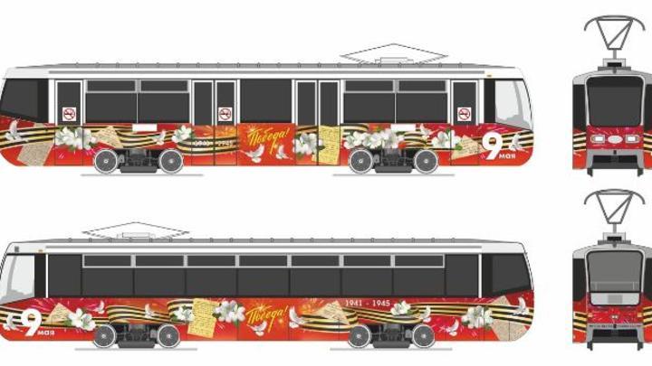 Челябинцы могут прокатиться в трамвае Победы