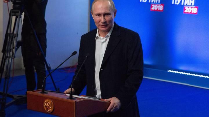 Владимир Путин получает76,66% голосов по итогам обработки99,84% протоколов