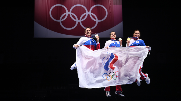 We Will ROC You: Петербург поддержал российских спортсменов на Олимпиаде-2020