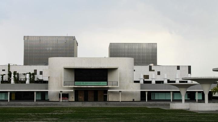 Театр на месте резиденции Гессенского дома в Дармштадте (Staatstheater). Фото: Евгений Криницын