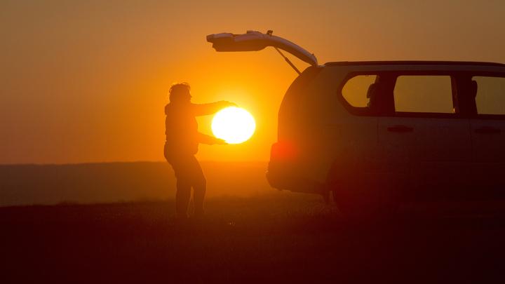 Новосибирцы восхитились оранжевым осенним рассветом