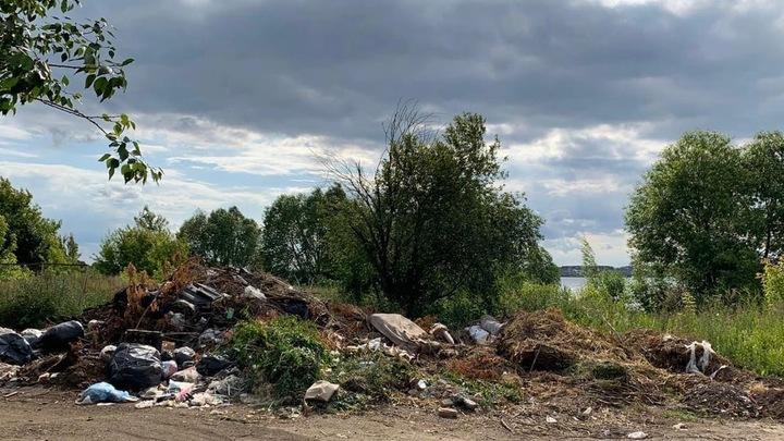 Шершневское водохранилище загрязняют стоками с незаконной свалки