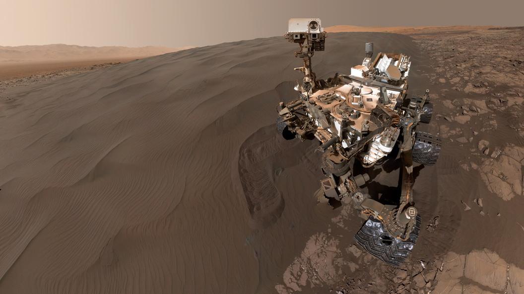 Аппарат Curiosity заснял идеально ровный круг из камней на Марсе