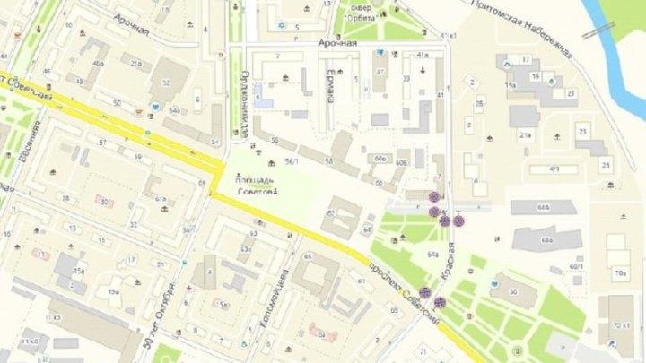 На нескольких улицах в центре Кемерова запретят парковку