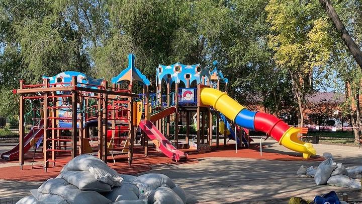В Горсаду Кургана детскую площадку сделают безопасной